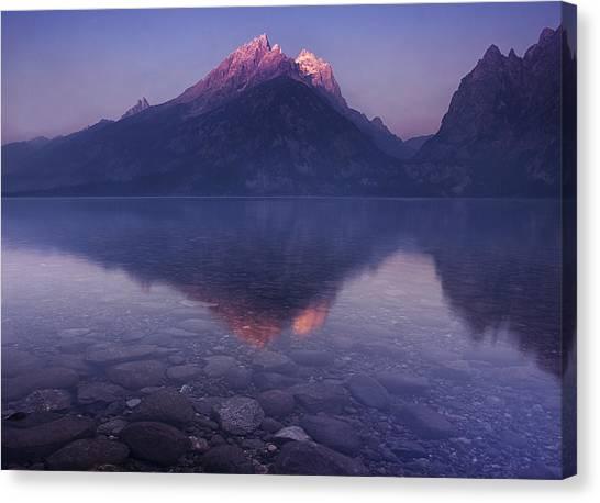 Jenny Lake Canvas Print - Morning Stillness by Andrew Soundarajan