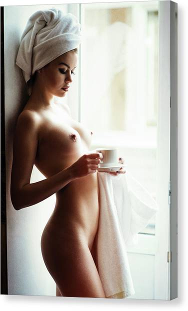 Fine Art Nudes Canvas Print - Morning Tea by Gene Oryx
