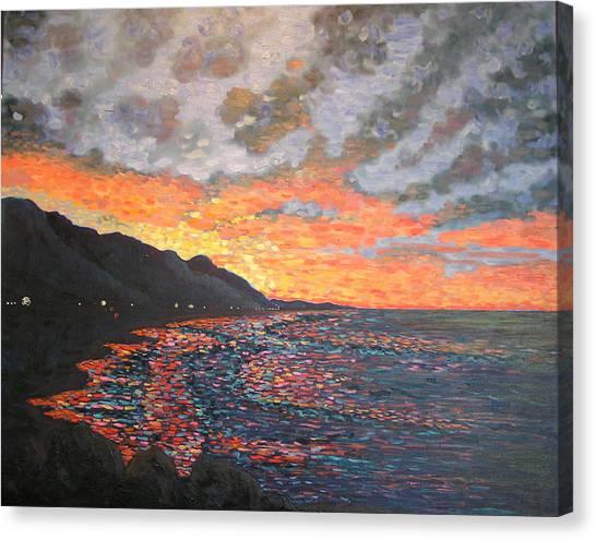 Morning Traffic To Santa Barbara Canvas Print
