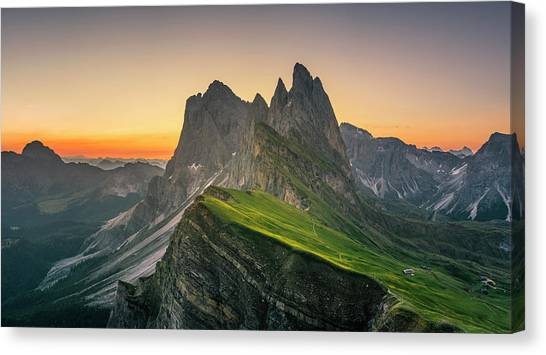 Morning Twilight At Secede, Italy Canvas Print by Chalermkiat Seedokmai