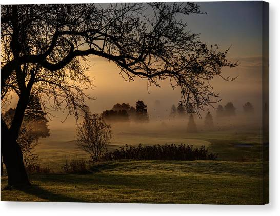 Morning Valley Fog Canvas Print by Don Powers