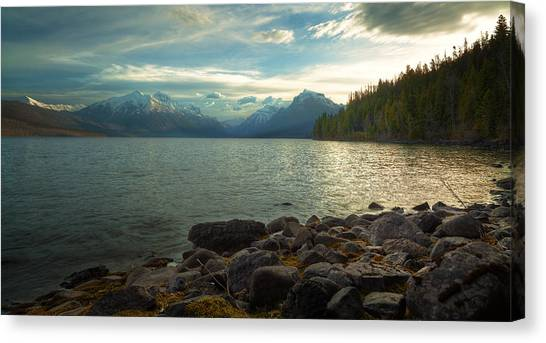 Mornings At Lake Mcdonald Canvas Print by Stuart Deacon