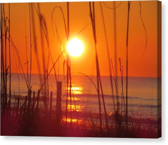 Morning's Beach Canvas Print