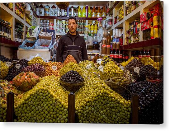 Moroccan Grocery Canvas Print by Pierre-Yves Babelon