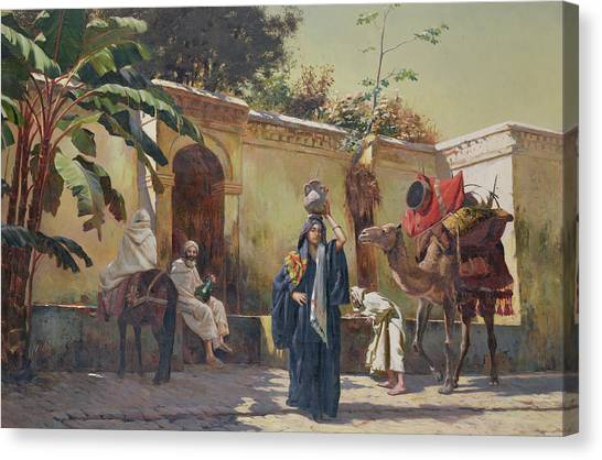 Moroccan Canvas Print - Moroccan Scene by Rudolphe Ernst
