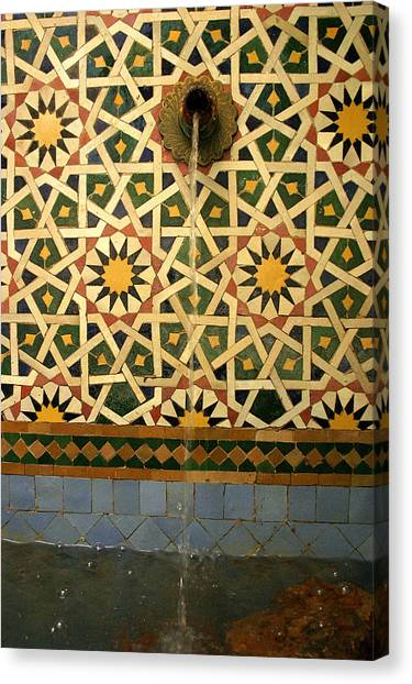 Moroccan Water Fountain Canvas Print by PIXELS  XPOSED Ralph A Ledergerber Photography