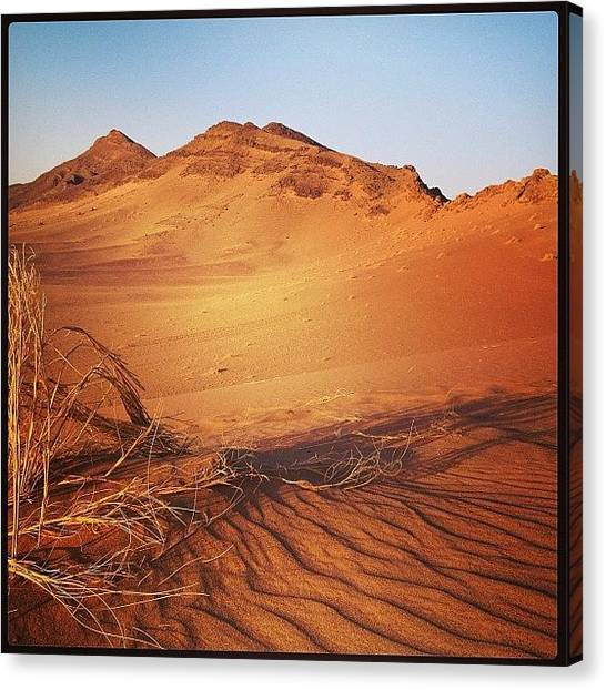 Sahara Desert Canvas Print - #morocco #rhshc #road_trip #desert by Robert Hutchison