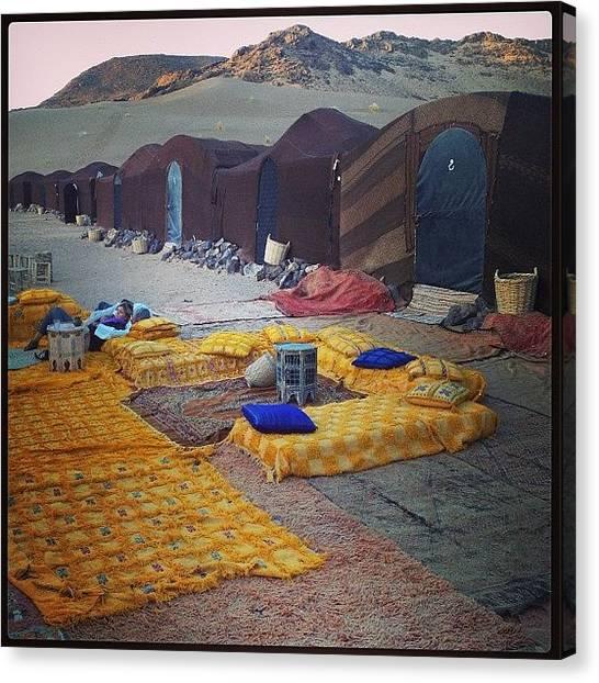 Sahara Desert Canvas Print - #morocco #zagora #sahara #camel_ride by Robert Hutchison