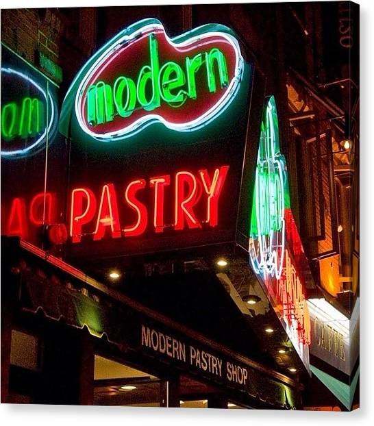Massachusetts Canvas Print - Moron A Series Of Neon Signs Around by Joann Vitali