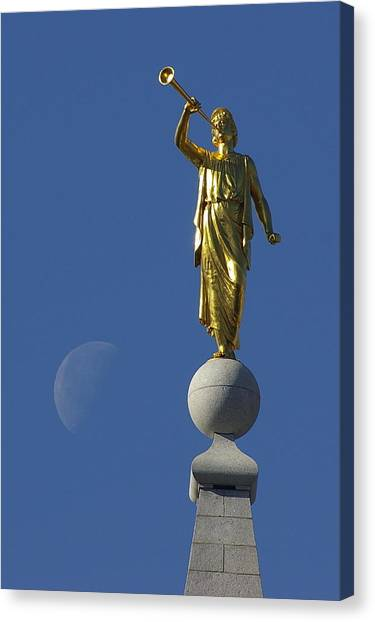 Moroni And The Moon Canvas Print