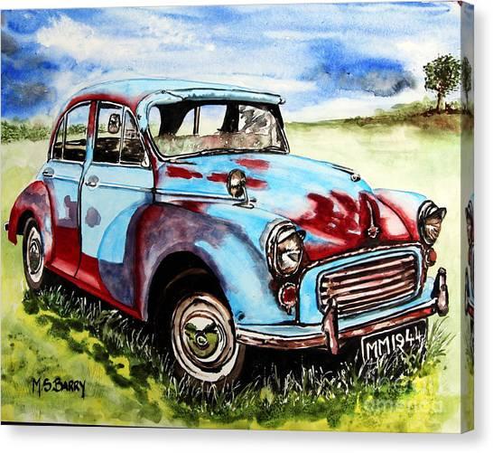 Morris Minor Canvas Print