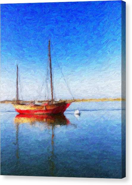 Morro Bay Blue Canvas Print