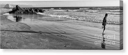 Morro Beach Walk Canvas Print