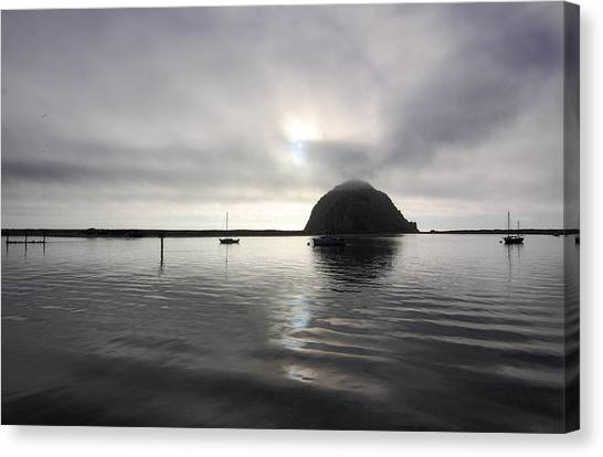Morro Rock After Sunset Canvas Print