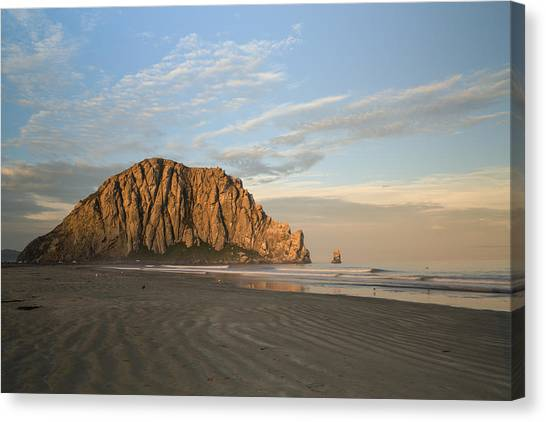 Mcherdering Canvas Print - Morro Rock At Dawn by Mike Herdering