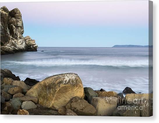 Morro Rock Morning Canvas Print