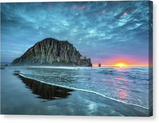 Morro Sunset Canvas Print