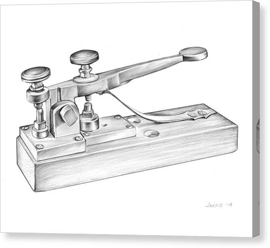 Communications Canvas Print - Morse Telegraph by Greg Joens