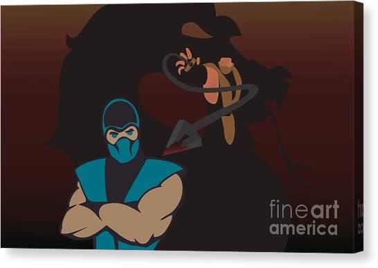 Mortal Kombat Canvas Print - Mortal Kombat by Martin Salatta