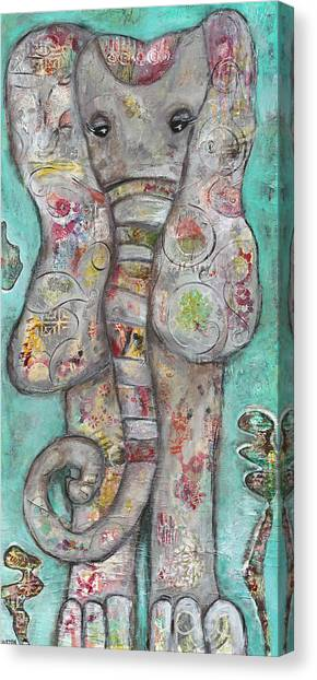 Mosaic Elephant Canvas Print