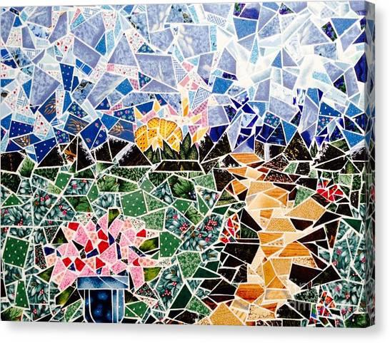 Mosaic Garden Path Canvas Print