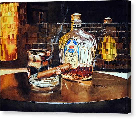Whiskey Canvas Print - Mosaic Reflections by Spencer Meagher