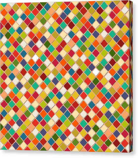 Pattern Canvas Print - Mosaico by Sharon Turner