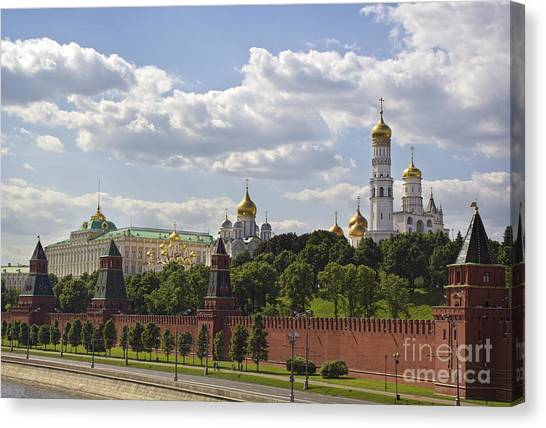 Orthodox Art Canvas Print - Moscow Kremlin by Elena Nosyreva