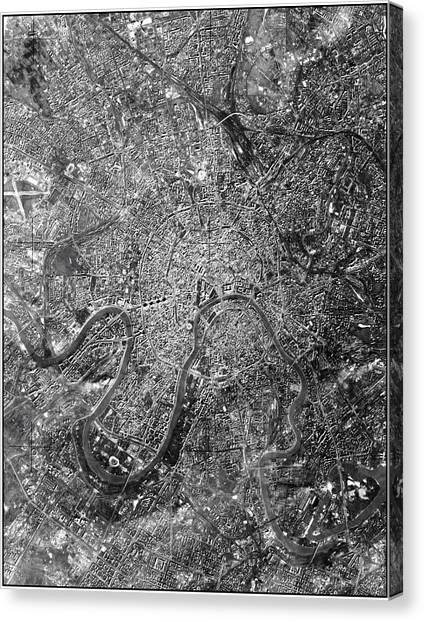 Moscow Canvas Print - Moscow by National Reconnaissance Office