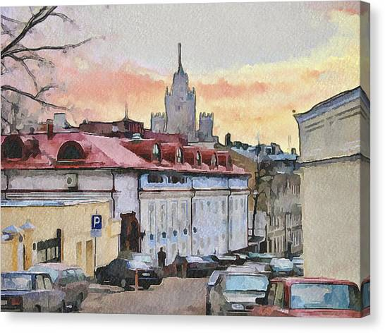 Moscow Old Streets 1 Canvas Print by Yury Malkov