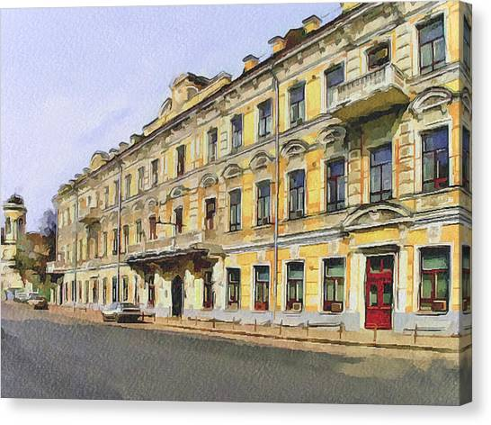 Moscow Old Streets 2 Canvas Print by Yury Malkov