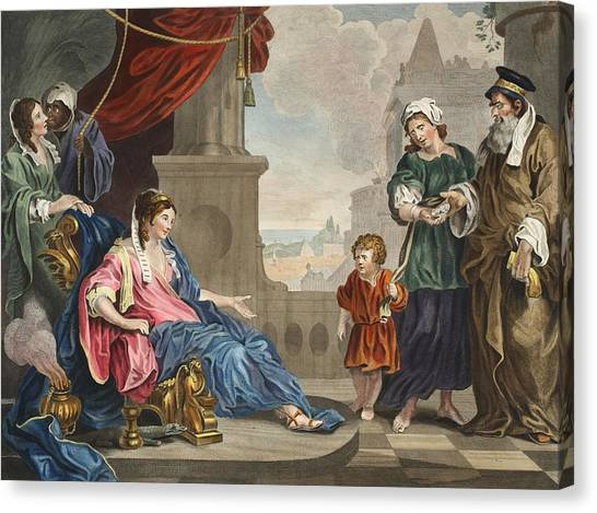 Presentations Canvas Print - Moses Brought To Pharoahs Daughter by William Hogarth