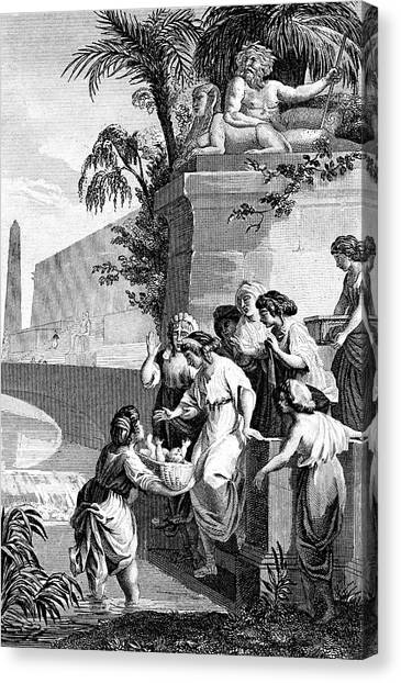 Torah Canvas Print - Moses Rescued by Collection Abecasis/science Photo Library