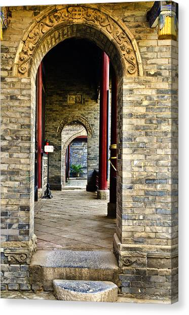 Moslem Door Xi'an China Canvas Print