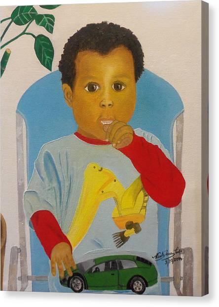 Mossiah My Grandson Canvas Print