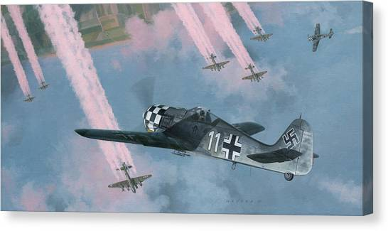 Luftwaffe Canvas Print - Most Dangerous Game by Wade Meyers