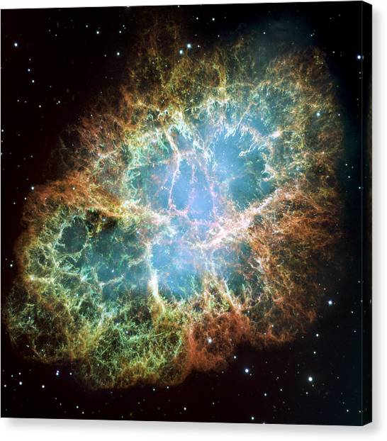 Crabs Canvas Print - Most Detailed Image Of The Crab Nebula by Adam Romanowicz