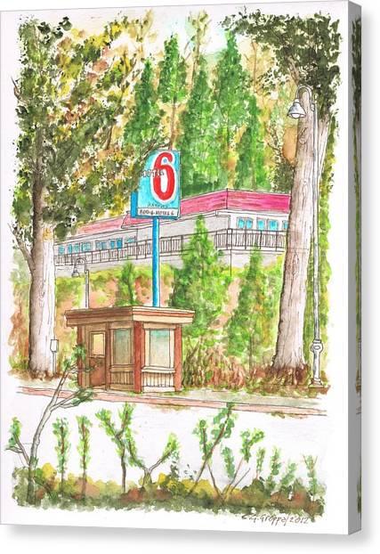 Motel 6 In Mammoth Lakes - California Canvas Print