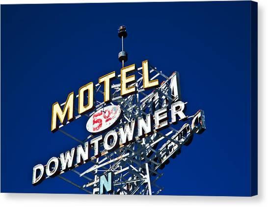 Motel Downtowner Canvas Print
