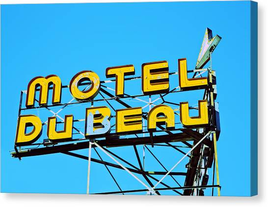 Motel Du Beau Canvas Print