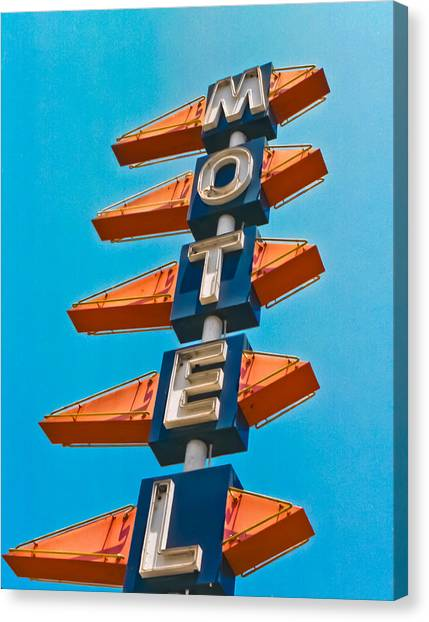 Motel Large Canvas Print