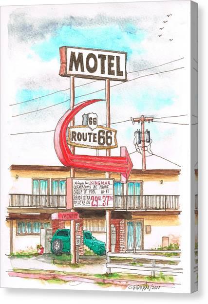 Motel Route 66 In Route 66, Andy Devine Ave., Kingman, Arizona Canvas Print