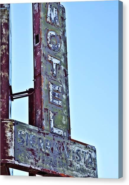Motel Sierra Vista Vintage Neon Sign Canvas Print