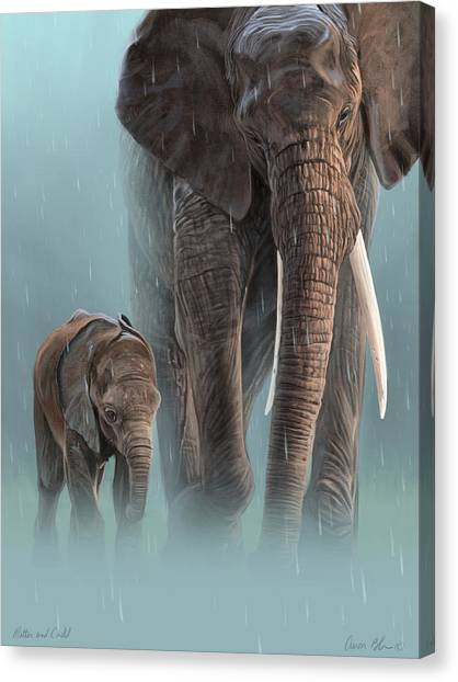 African Canvas Print - Mother And Child by Aaron Blaise