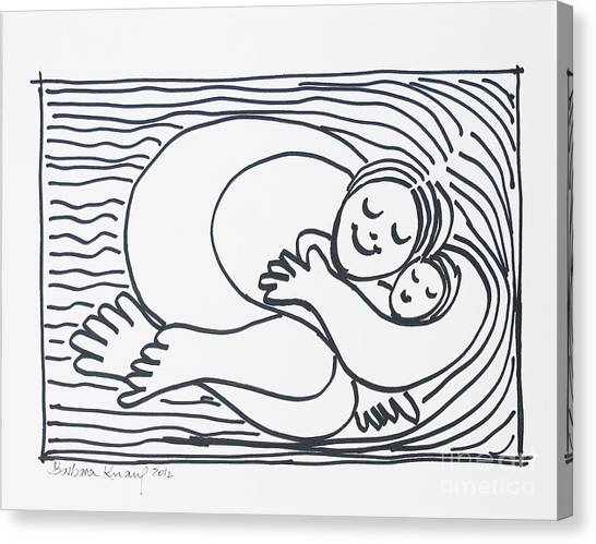 Canvas Print - Mother And Child by Barbara Anna Knauf