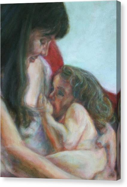 Mother And Child - Detail Canvas Print