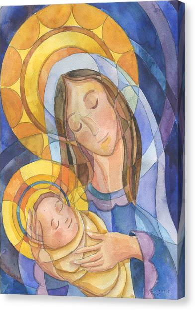 Incarnation Canvas Print - Mother And Child by Mark Jennings