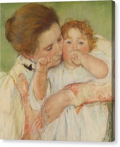 Motherhood Canvas Print - Mother And Child by Mary Stevenson Cassatt
