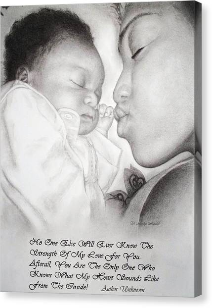 Mother And Child Canvas Print by Melodye Whitaker