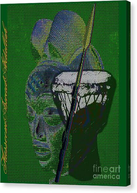 Djembe Canvas Print - Mother Healer Warrior by Hasseem Abdallah